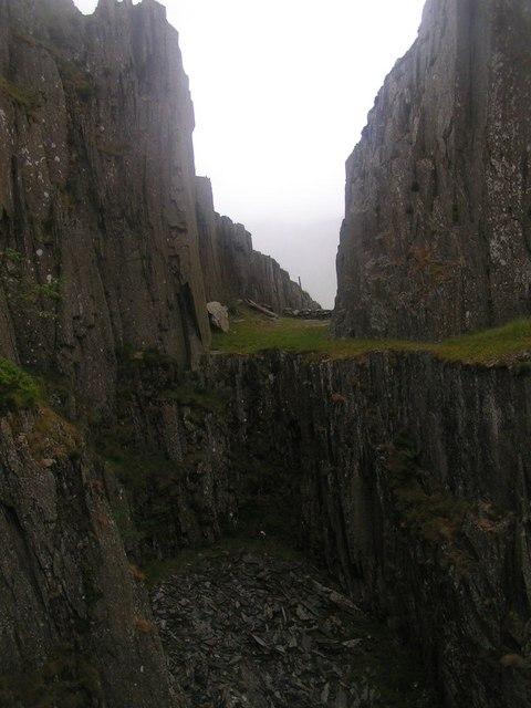 Disused slate quarry, Rhyd-Ddu