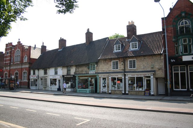 Old shops on Lincoln High Street
