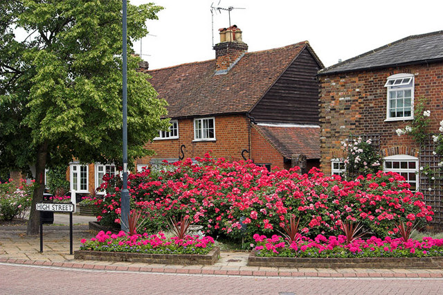 High St Cottages and Flowers