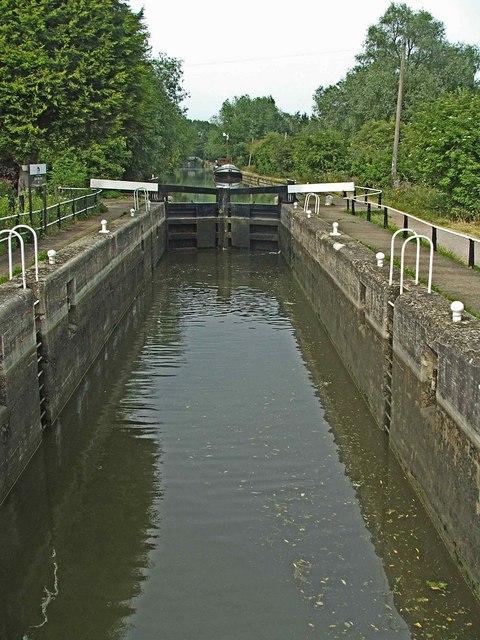 Lock on River Lee Navigation