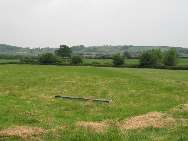 View over fields towards Heddington