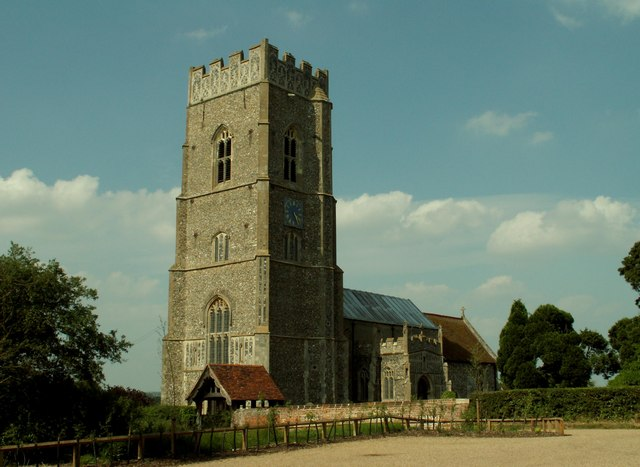 St. Mary's church, Kersey, Suffolk