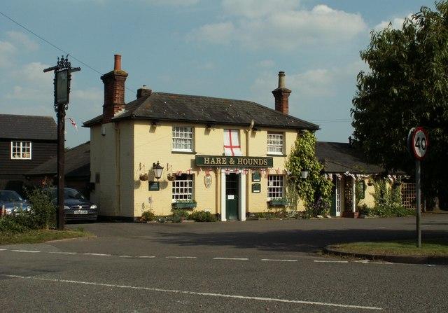 'Hare And Hounds' inn, Leavenheath, Suffolk