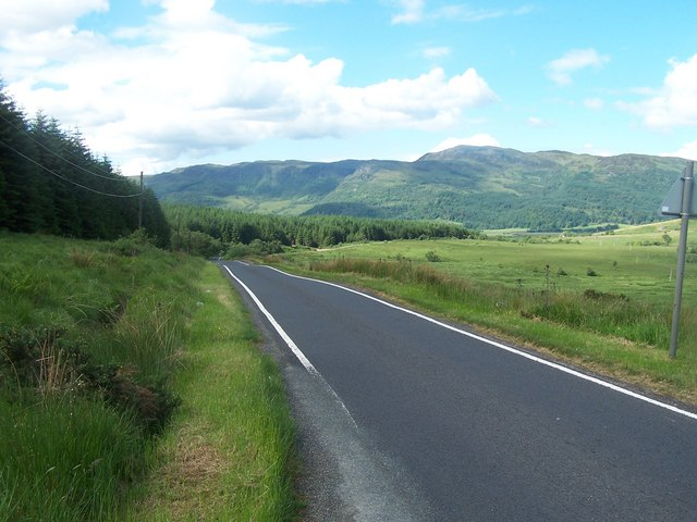 Loch Striven - Colintraive,  Road down to Glendaruel