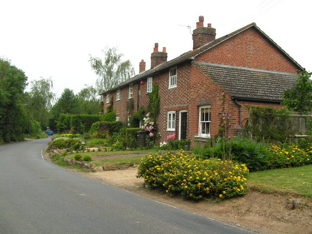 Row of houses in Parker's Green, North of Tonbridge.