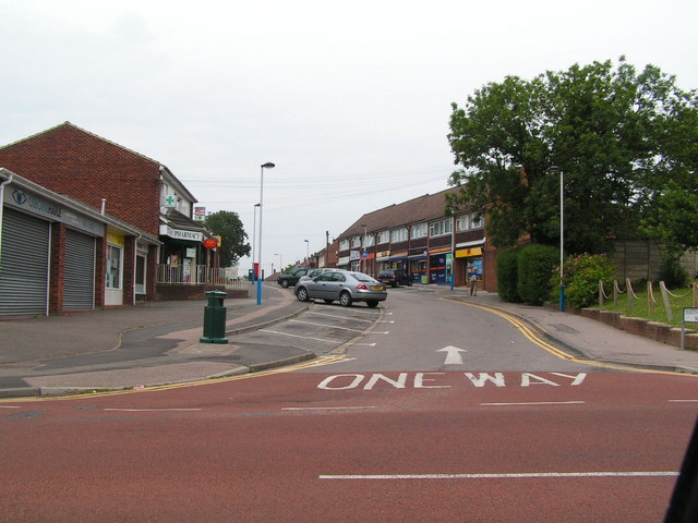 Suburban shopping parade, Higham Wood