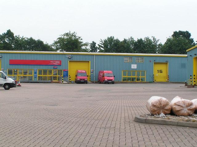 Parcelforce depot. Tonbridge