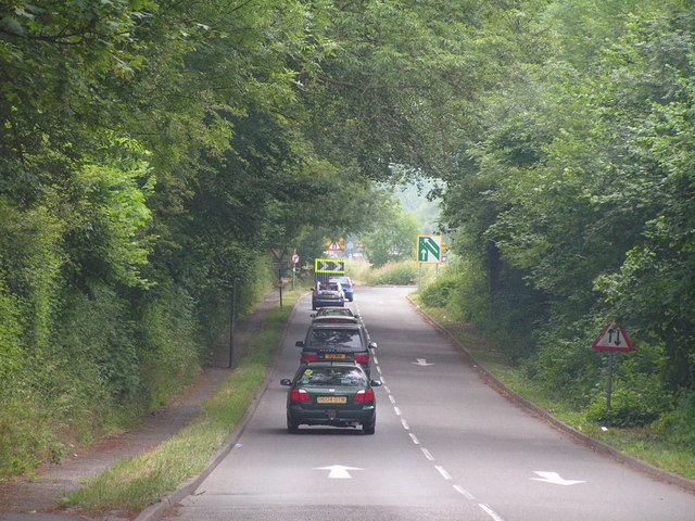 Slip road onto the A21 in South Tonbridge.