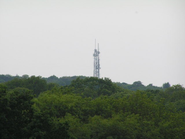 Transmitters on Castle Hill.