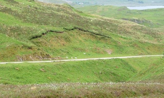 Landslip on the A894