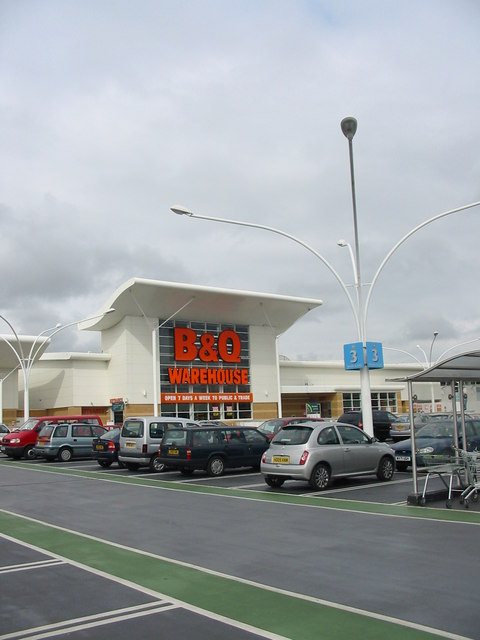 B+Q  warehouse Castlepoint Bournemouth Dorset