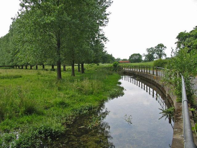 The River Allen near Monkton up Wimborne Dorset