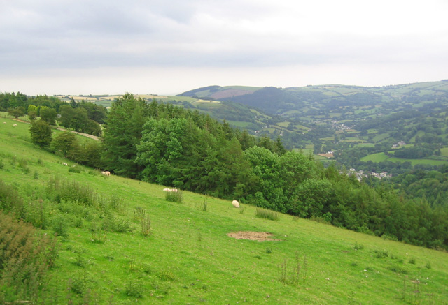 View down Glyn Ceiriog valley