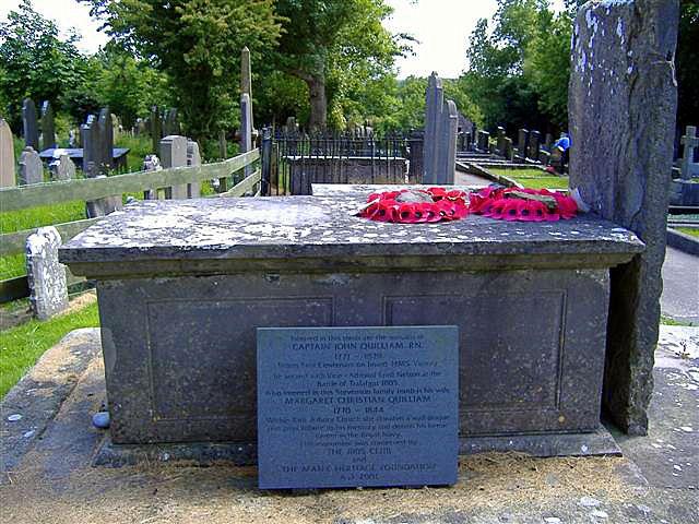 Tomb of Captain John Quilliam R.N., Arbory, Isle of Man