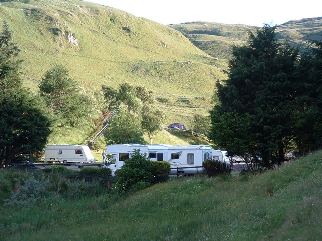 Campsite at Glenshellach