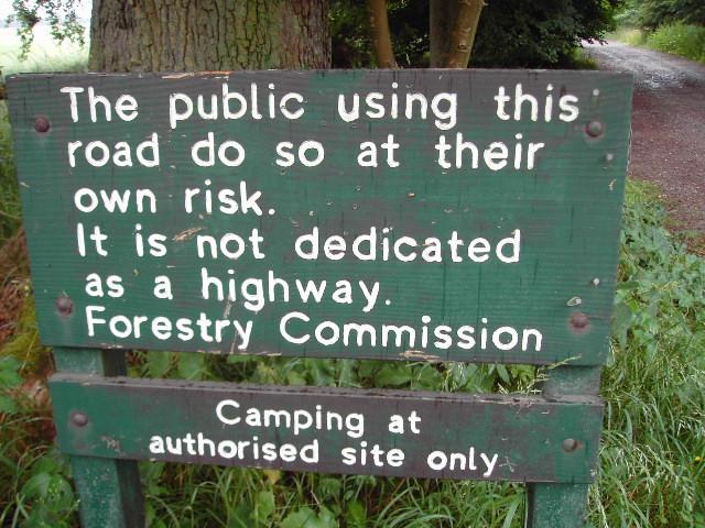 Forestry Sign at Savernake Forest