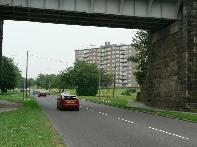 View under railway bridge, Leeds Ring Road, West Park