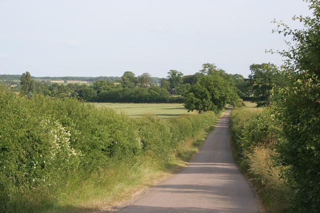 Country road near Tixover Grange, Rutland