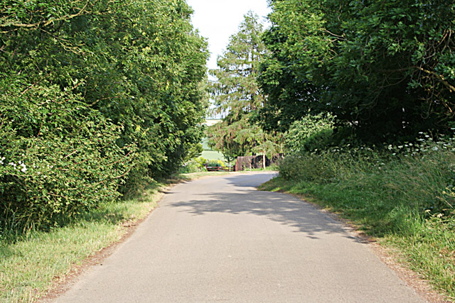 Road at Tixover Grange