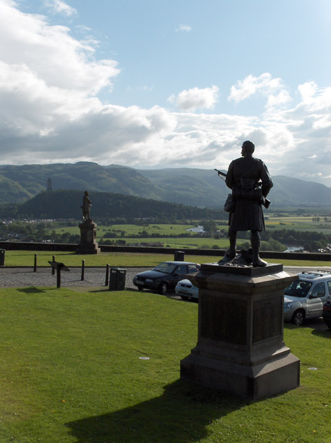 Statues on Stirling Castle's forecourt