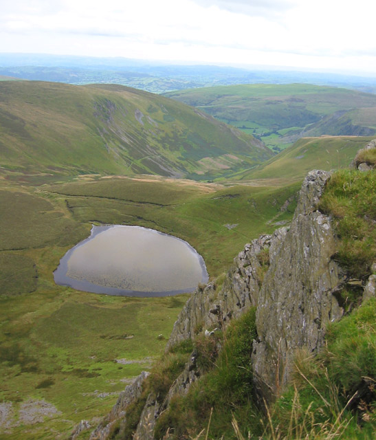 View from southern top of Cadair Berwyn