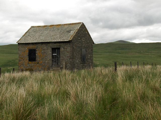 Hut above Keltie Water