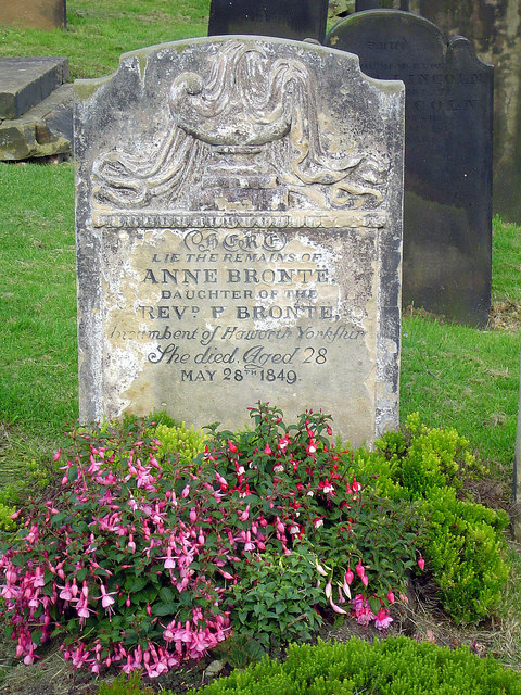 Anne Bronte's tombstone