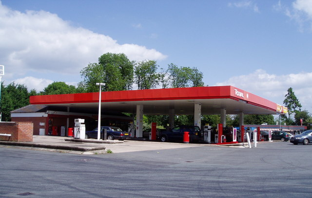 Petrol Station on the outskirts of Leominster