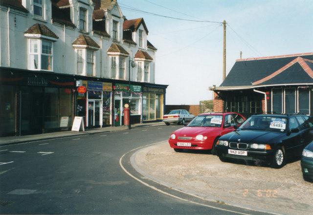 Shops and garage, Marine Drive, Barton-on-Sea