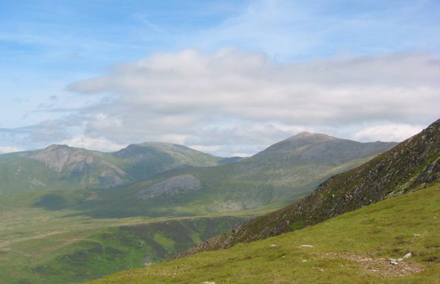 View from Carnedd y Filiast col