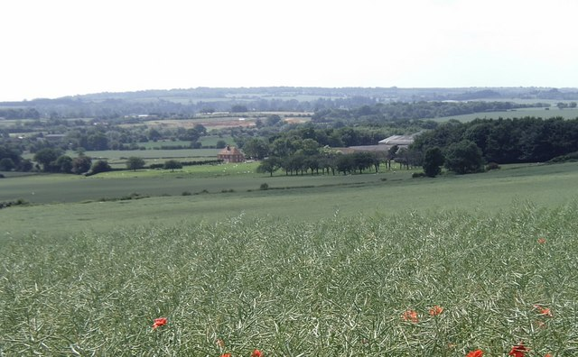 View from the North Downs Way, near Charing