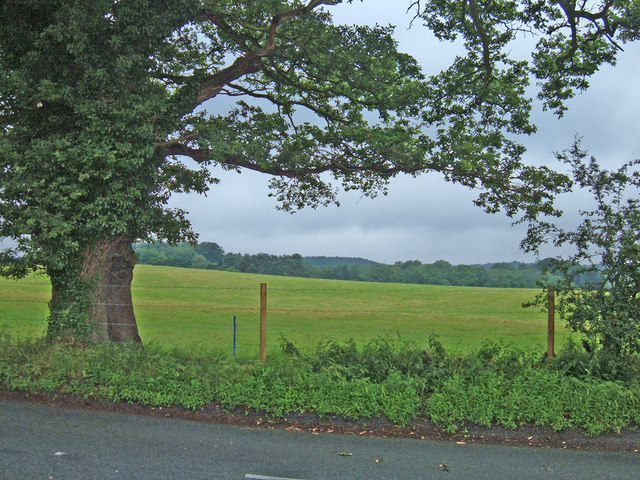 Farmland to the southwest of Northwich