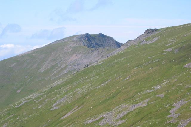 Yr Elen from Carnedd ridge
