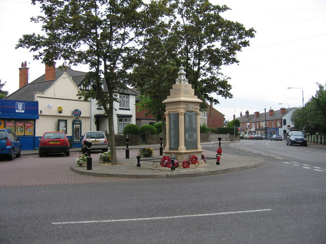 War Memorial, Main Road, Jacksdale, Nottinghamshire