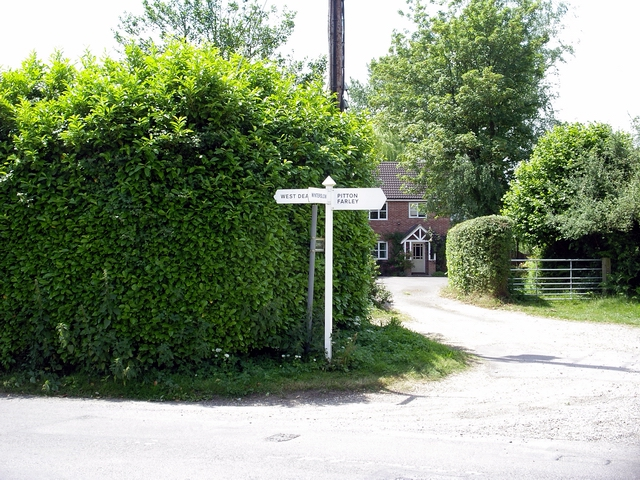 Signpost at the north end of East Grimstead
