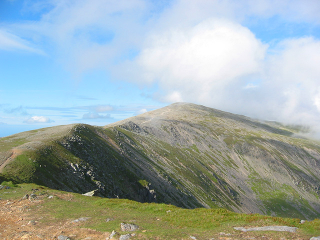 Carnedd Dafydd and ridge to Pen yr Ole Wen