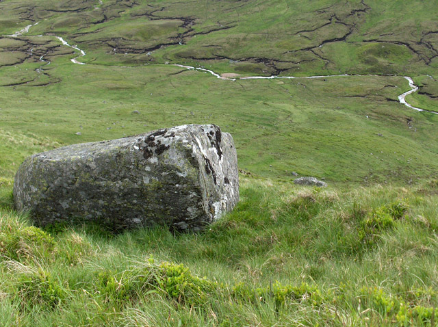 Boulder and Allt an Dubh Choirein