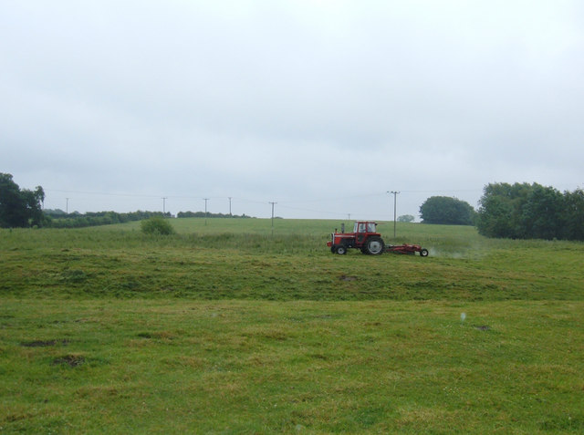 Mowing at Marton Green