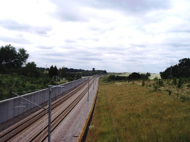 Channel Tunnel  Rail Link east of Ashford