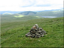 NT0916 : Cairn on the side of Ballaman Hill by Chris Wimbush