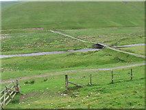 NT1017 : Track and bridge at Fruid Water by Chris Wimbush