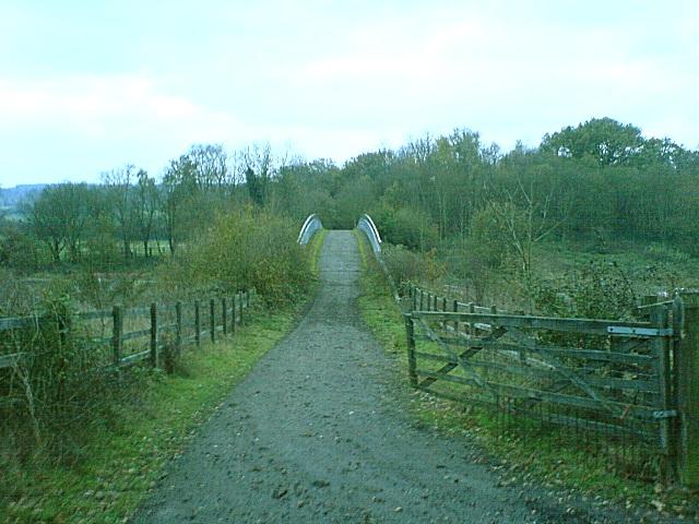Farm bridge over M26 motorway