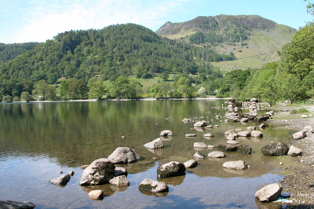 Sheffield Pike viewed from the shores of Ullswater