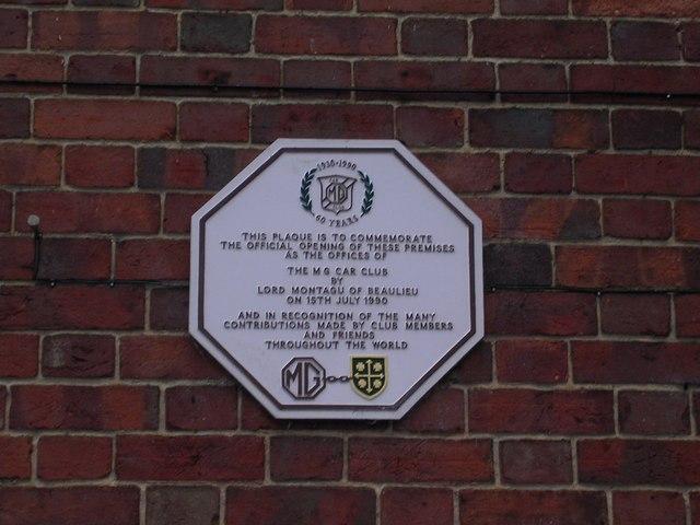 Commemorative Plaque, Kimber House, Abingdon