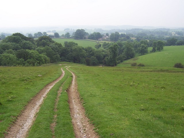 Track leading down to Foss Gill