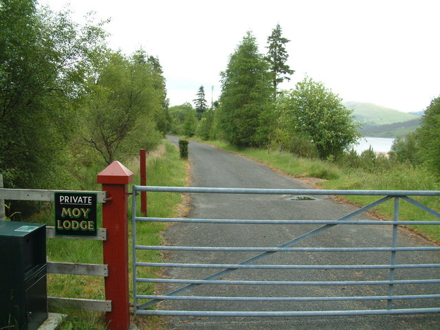 Entrance gate to Moy Lodge