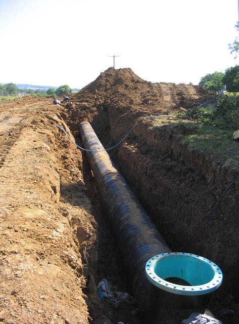 Rural pipe-laying
