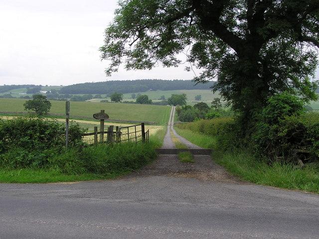 Lane to West Farm : Moor Lane