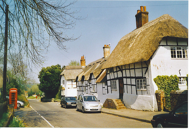 Thatched Cottages in Micheldever.