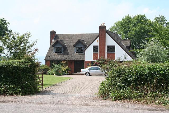 Honiton: house on Northcote Hill
